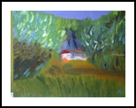 House in the Jungle, Paintings, Impressionism, Landscape, Oil, By MD Meiser