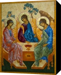 Icon of the Trinity, Paintings, Fine Art,Medievalism, Inspirational,Religious,Spiritual, Mixed, By Ann C Chapin