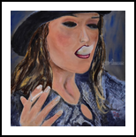 Just One Toke, Paintings, Expressionism, Figurative,Portrait, Canvas,Oil,Painting, By Paul Cox