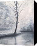 Lights in black and white, Paintings, Fine Art,Impressionism, Landscape,Nature, Oil,Wood, By Angela Suto