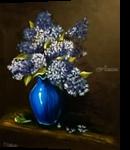 Lilac in vase, Paintings, Impressionism, Still Life, Acrylic,Oil, By Svetlana Vorobyeva