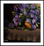 Lilacs in Copper, Paintings, Impressionism, Botanical,Floral, Oil, By Kathelen Lee Weinberg