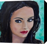 Look At Me, Paintings, Expressionism, Portrait, Canvas,Oil,Painting, By Paul Cox