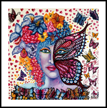 Love, Paintings, Expressionism,Fine Art,Modernism, Animals,Figurative,Floral, Canvas,Oil, By Helen - Bellart