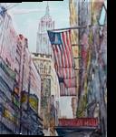 Manhattan, Paintings, Surrealism, Architecture,Landscape, Watercolor, By Victor Ovsyannikov