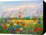Meadow flowers, Paintings, Impressionism, Botanical,Floral, Canvas, By Olha   Vyacheslavovna Darchuk
