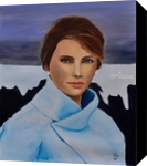 Melania, Paintings, Expressionism, Portrait, Canvas,Oil,Painting, By Paul Cox