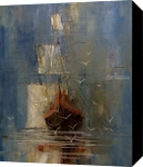 Mist, Paintings, Expressionism,Impressionism, Seascape, Canvas,Oil, By Justyna Kopania