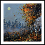 Moonshine, Paintings, Impressionism, Landscape, Canvas, By Pol Henry Ledent