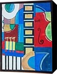 MusicalInstruments Abstract, Paintings, Abstract, Landscape, Acrylic, By Naveen Kumar