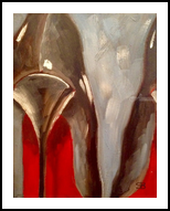 My Black Patent Leather Louboutin High Heel Shoes, Paintings, Impressionism, Still Life, Oil, By Samantha Black