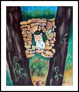 NATURAL HOME, Land Art, Impressionism, Animals, Canvas, By RAGUNATH VENKATRAMAN