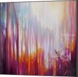 Nebulous Forest - a semi abstract landscape, Paintings, Abstract,Expressionism,Fine Art, Nature, Oil, By Gill Bustamante