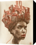 Nefertiti, Drawings / Sketch,Pastel, Fine Art,Realism,Surrealism, Architecture,Fantasy,People,Portrait, Charcoal,Pastel, By Kateryna Bortsova