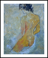 Nude 457120, Paintings, Expressionism, Decorative, Canvas, By Pol Henry Ledent