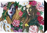 Nymphs, Paintings, Fine Art,Photorealism,Realism,Romanticism, Botanical,Figurative,Floral,People,Portrait, Canvas,Oil,Painting, By Kateryna Bortsova