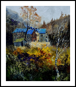 Old mansion, Paintings, Expressionism, Landscape, Canvas, By Pol Henry Ledent