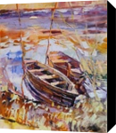 PLEIN AIR 28-03-2017 (BOATS, EVENING), Paintings, Expressionism,Impressionism, Landscape, Canvas,Oil,Painting, By Dima Braga