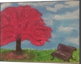 Paradise, Land Art,Paintings, Fine Art, Cityscape,Floral,Nature, Acrylic,Canvas,Painting, By Digvijay Singh Rathore