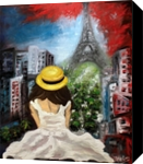 Paris Wonderful view, Architecture, Expressionism, Figurative, Canvas,Oil, By Helen - Bellart