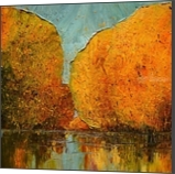 River, Paintings, Expressionism,Impressionism, Landscape,Nature, Canvas,Oil, By Justyna Kopania