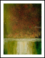 River, Paintings, Existentialism,Impressionism, Landscape, Canvas,Oil, By Justyna Kopania