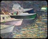 Rockport Boats, Paintings, Impressionism, Seascape, Oil, By Richard John Nowak