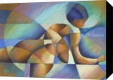 Roundism - 10-05-17, Pastel, Abstract,Cubism, Anatomy,Composition,Erotic,Figurative,Nudes, Pastel, By Corne Akkers