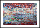 Running time. Moscow, Mayakovka, Paintings, Surrealism, Architecture,Documentary,Historical,Landscape, Acrylic,Canvas, By Victor Ovsyannikov