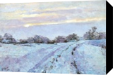 SOON IT IS EVENING, WINTER, Paintings, Expressionism,Impressionism, Landscape, Oil,Painting, By Dima Braga