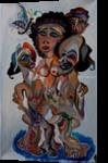 Sham Don Quixotes, Paintings, Surrealism, Figurative, Oil, By Eka Goderdzi Rukhadze