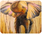 Smiling elephant, Paintings, Impressionism, Animals, Canvas,Oil,Painting, By Olha   Vyacheslavovna Darchuk