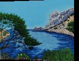 Sormiou, Paintings, Impressionism, Figurative,Landscape,Nature,Seascape, Acrylic,Canvas, By GORFI GORFI