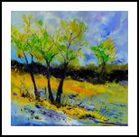 Spring 88 7160, Paintings, Expressionism, Decorative, Canvas, By Pol Henry Ledent
