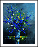 Still life 6785, Paintings, Expressionism, Botanical, Canvas, By Pol Henry Ledent