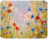 Summer flowers, Paintings, Fine Art,Impressionism, Floral,Nature, Canvas,Oil,Painting, By Olha   Vyacheslavovna Darchuk