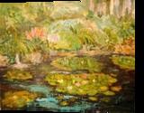 Swampy Lake Etude, Paintings, Impressionism, Floral, Oil, By Sana Verba