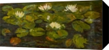 Swampy Lake and lillies, Paintings, Fine Art,Impressionism, Floral, Oil, By Sana Verba