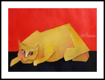 Sweet Pea, Paintings, Expressionism, Animals, Oil, By myron m gilbert