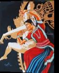 THE DANCE DIVINE OF ODISSI, Decorative Arts, Realism, Composition, Canvas, By RAGUNATH VENKATRAMAN