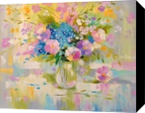 Tenderness, Paintings, Impressionism, Botanical,Floral, Canvas,Oil,Painting, By Olha   Vyacheslavovna Darchuk