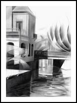 The Hague - 19-03-17, Drawings / Sketch, Abstract,Cubism,Fine Art,Impressionism,Realism, Architecture,Cityscape,Composition,Figurative,Landscape, Canvas,Pencil, By Corne Akkers