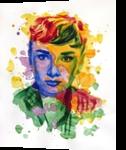 The power of color - Audrey Hepburn, Paintings, Modernism,Realism, Figurative,Portrait, Watercolor, By Dario Lo Iacono
