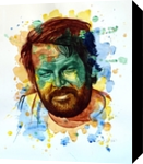The power of color - Bud Spencer, Paintings, Modernism,Realism, Figurative,People,Portrait, Painting,Watercolor, By Dario Lo Iacono