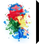 The power of color - Charlie Chaplin, Paintings, Modernism,Realism, Figurative,People,Portrait, Painting,Watercolor, By Dario Lo Iacono