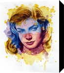 The power of color - Lauren Bacall, Paintings, Modernism,Realism, Figurative,Portrait, Painting,Watercolor, By Dario Lo Iacono