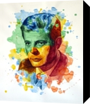 The power of color - Marcello Mastroianni, Paintings, Modernism,Realism, People,Portrait, Painting,Watercolor, By Dario Lo Iacono