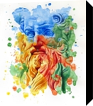 The power of color - Moses, Paintings, Modernism,Realism, Figurative,People,Portrait,Religious, Painting,Watercolor, By Dario Lo Iacono