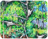 Tree, damage by insects, Paintings, Expressionism, Landscape, Acrylic, By Victor Ovsyannikov