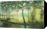 Two lakes, Paintings, Fine Art, Landscape,Nature, Oil,Wood, By Angela Suto